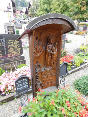 Bavarian carved wooden grave marker