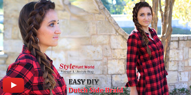 Simple And Easy Dutch Side Braid Hairstyle Tutorial