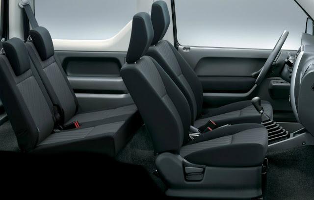 suzuki, jimny, 4x4, interior, kabin, kursi, penumpang, daleman, spesifikasi