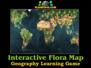 Интерактивна Карта на Световна Флора