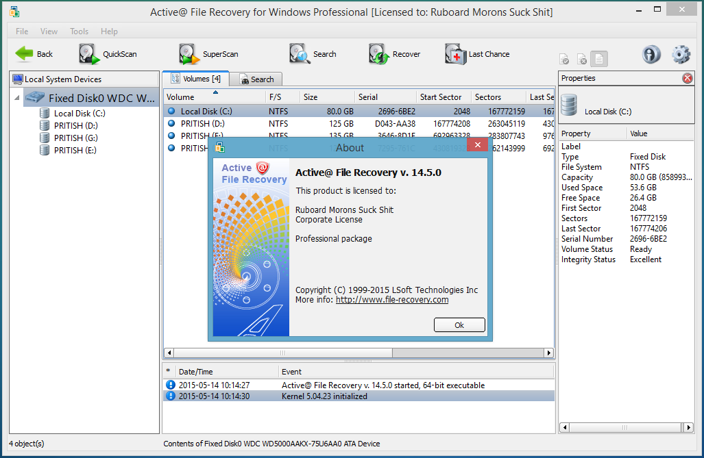 Active@ File Recovery Professional 15.05 Serial Key is Here [Latest]