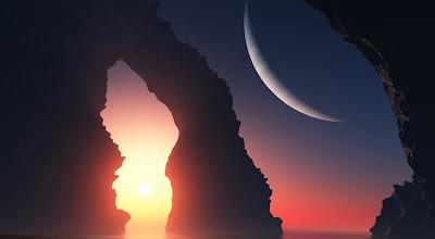 Montañas en el espacio relajantes