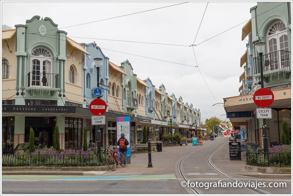 Recorrido por Christchurch. Regent street