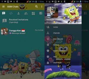 Tema BBM MOD Spongebob v3.3.0.16 APK