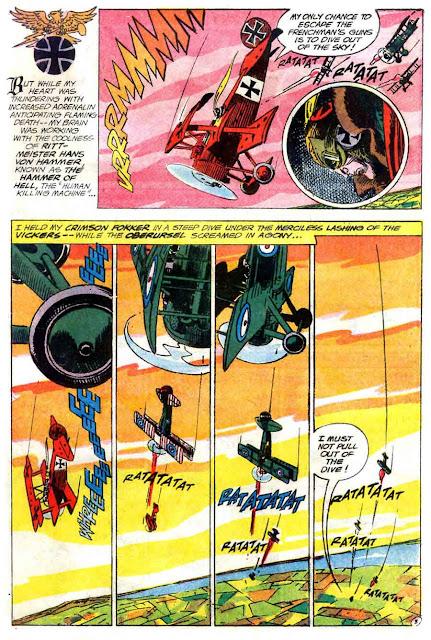 Showcase v1 #58 Enemy Ace dc comic book page art by Joe Kubert