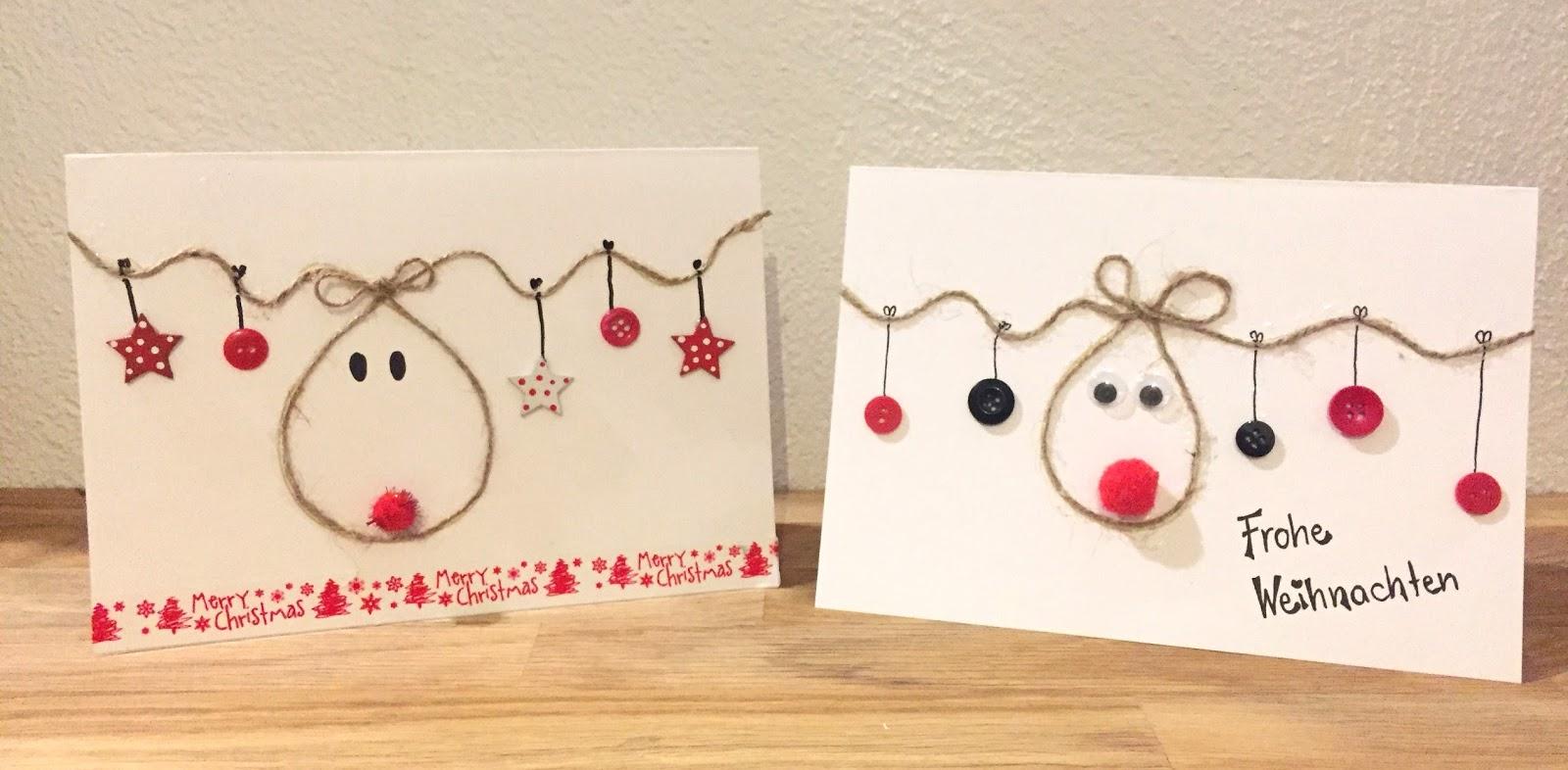 Klassenkunst Weihnachtskarte Diy