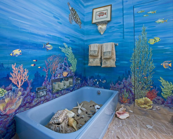 outstanding bathrooms ocean theme | Bathroom: Ocean theme for Kids Bathroom