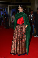 Manchu Lakshmi in a Strange Green Saree at 64th Jio Filmfare Awards South ~  Exclusive 006.JPG