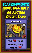 Scarecrow - Wizard101 Card-Giving Jewel Guide