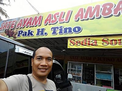 Selfie di depan Sate Ambal H. Tino Kebumen