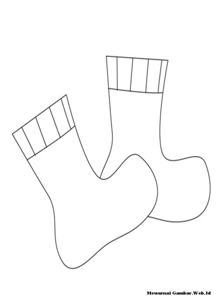 Kumpulan Sketsa Gambar Kaos Kaki Natal