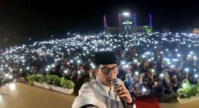 Malam yang Luar Biasa, Puluhan Ribu Warga Dumai Hadiri Tabligh Akbar Bersama Sandiaga