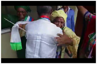 Watch emotional moment Osinbajo and his Mum Reunion since the Chopper Crash. (Video)
