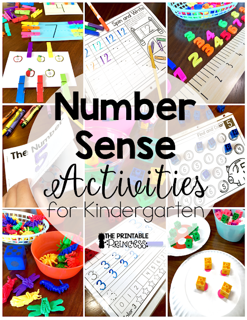 Number sense for Kindergarten. Any Kinder teacher knows this is harder to teach and takes more time than you'd think! But that's where this post can help! You'll get great ideas, activities, and resources to help your youngest primary students master their number sense! {Preschool students who are ready for a challenge and 1st grade students who need remediation will also enjoy these activities, as will homeschool families!} Click through now to see all the amazing ideas included!