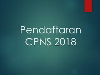 Pendaftaran CPNS 2018 Update Terbaru