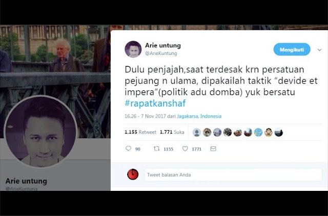 Arie Untung: Taktik Belah Bambu ala Penjajah Harus Dihadapi Dengan Rapatkan Shaft!