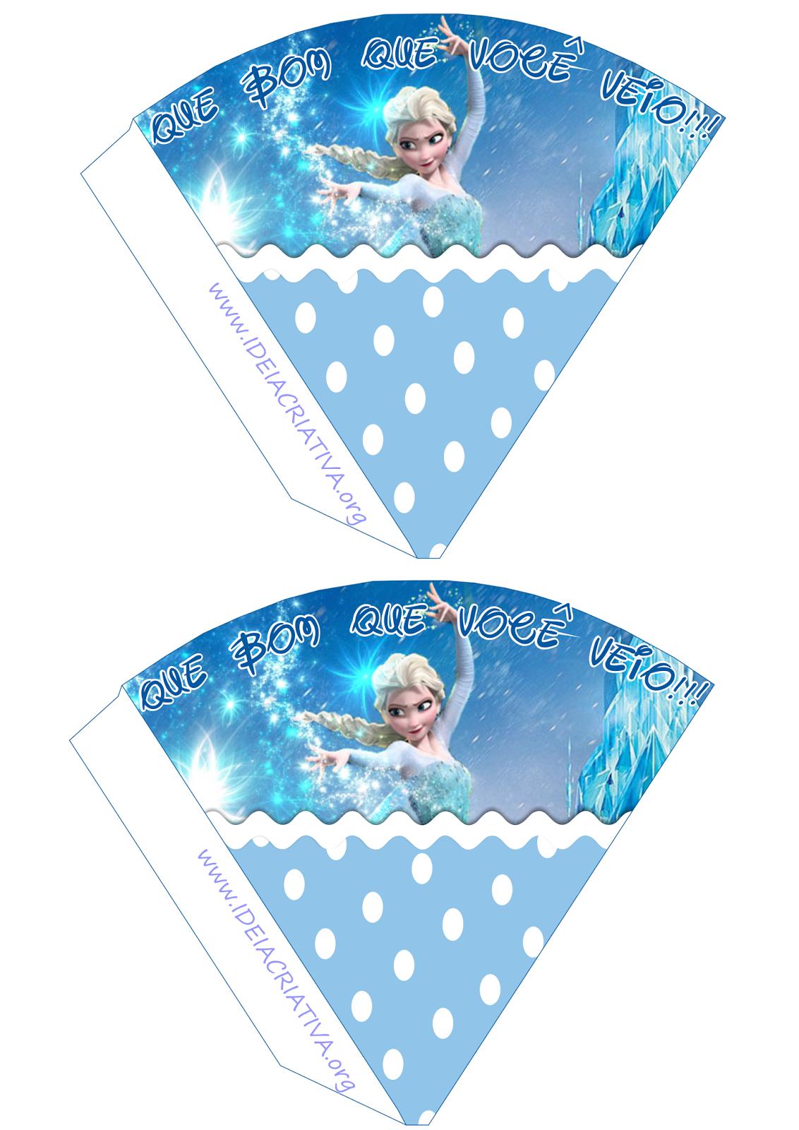 Mini Cones Frozen Uma Aventura Congelante Lembrancinha para Volta às Aulas