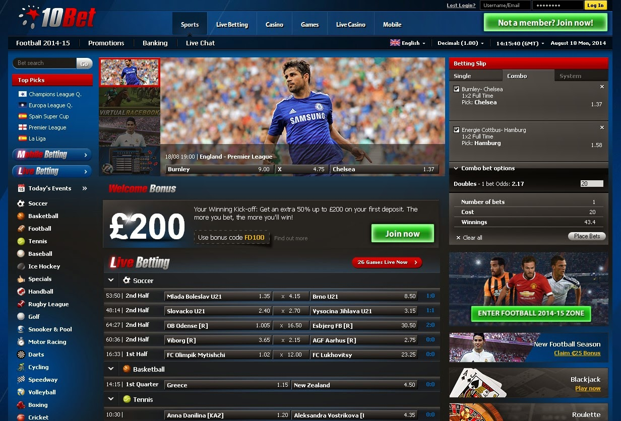 10Bet Sportsbook Review