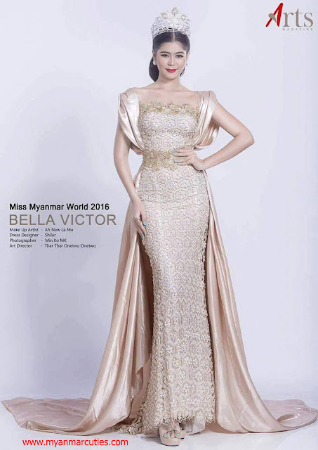 Miss Myanmar World 2016 Bella Victor @ Myat Thiri Lwin