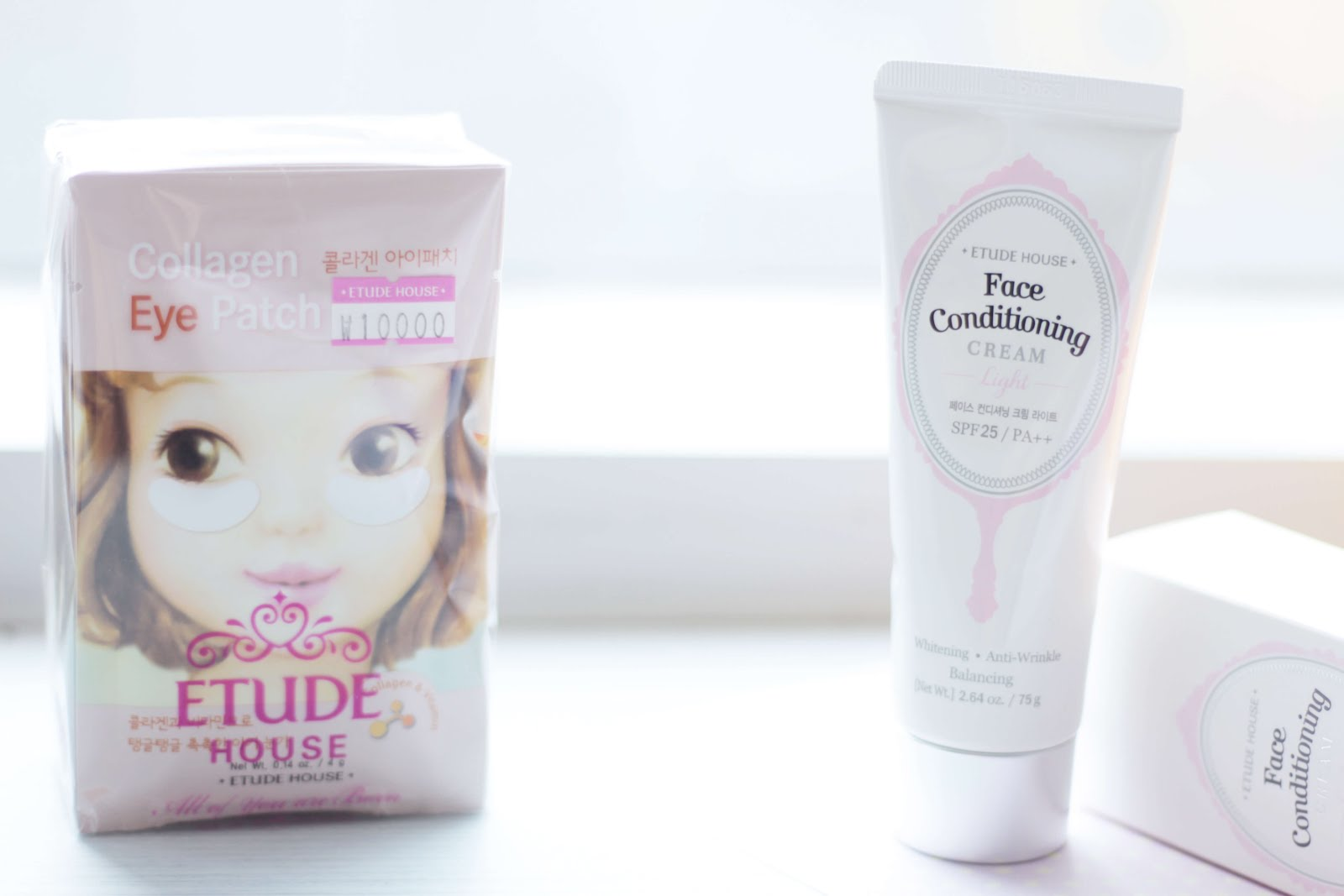 korean beauty haul etude house collagen eye patch skin conditioning cream