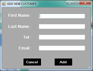 vb.net inventory system - add customer