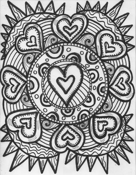 Hippie Sun Coloring Pages Colorings Net
