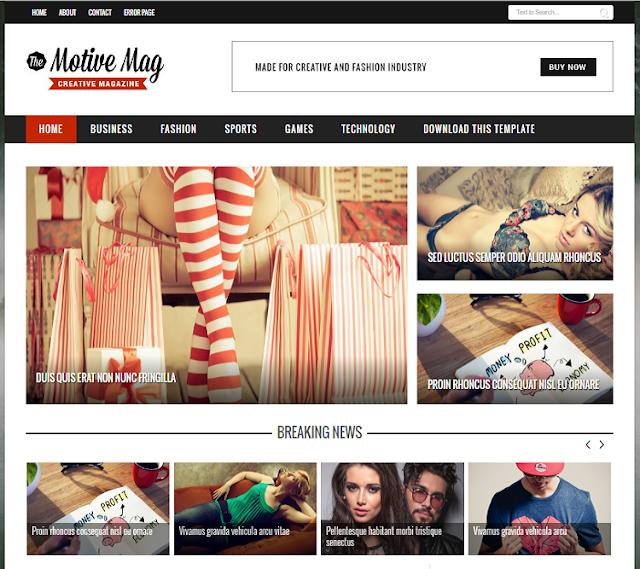 MotiveMag Magazine Blogger Template
