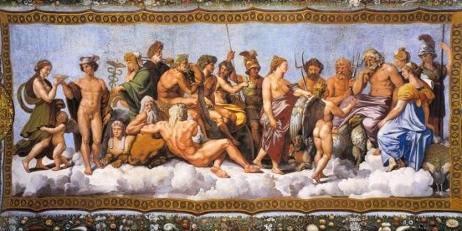 Η ετυμολογία των ονομάτων των θεών του Ολύμπου.