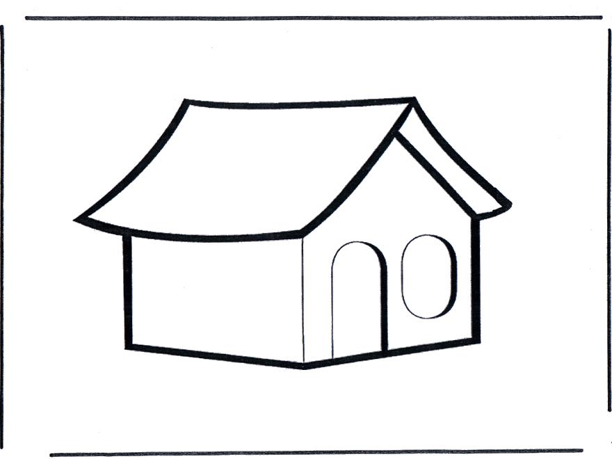 Desenho De Casas Simples Para Colorir