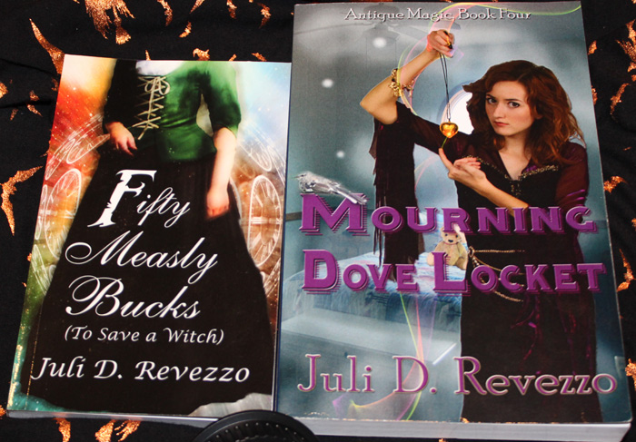 Fifty Measly Bucks by Juli D. Revezzo compared to 8.5x5.8 paperback, photo by Juli D. Revezzo