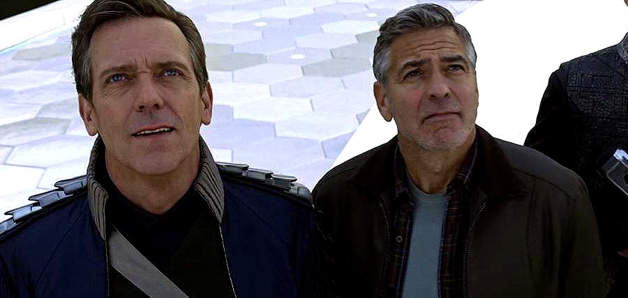 Hugh Laurie şi George Clooney în filmul sci-fi Tomorrowland