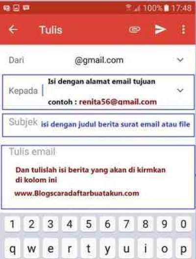 Cara Kirim Email Gmail Dari File Dan HP Android