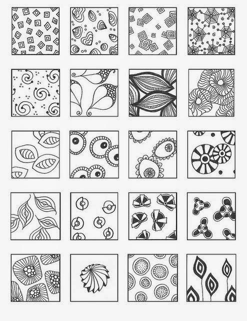 Zentangle Rustgevend Tekenen Zentangle Voorbeelden