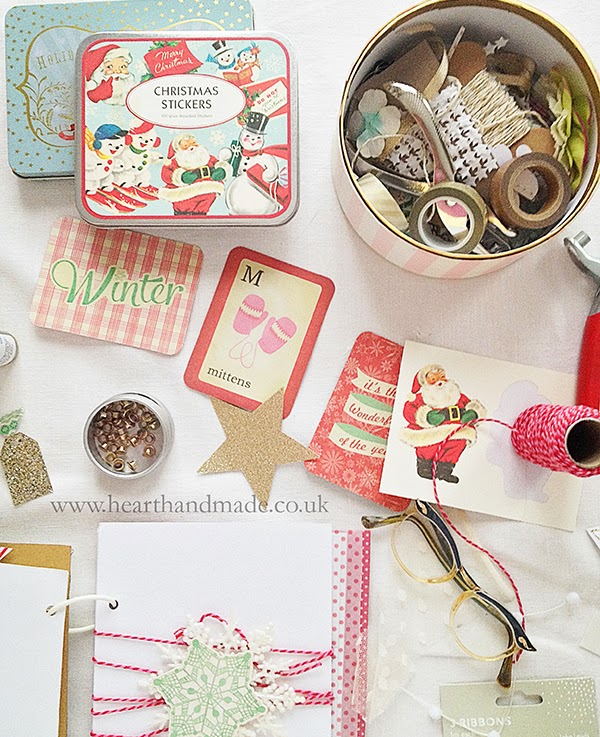 Retro stickers and Becky Higgins winter mini Project Life kit