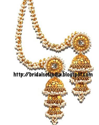 Fashion world: Azva gold earrings(Step Jimikki) for an ...