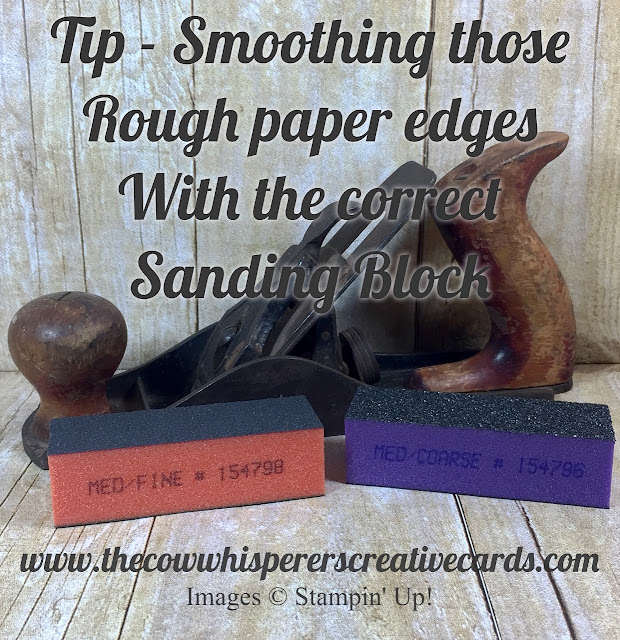 Smooth Rough Paper Edges, Sanding Block, Med/Fine Sanding Block, Tip, Card, Stamping Up