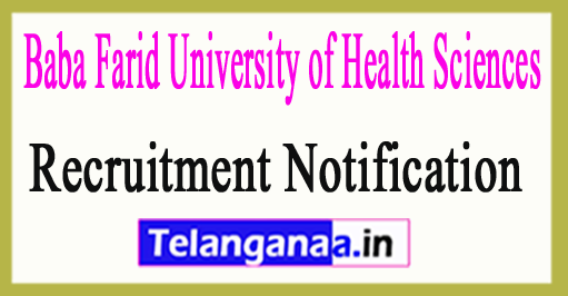 Baba Farid University of Health SciencesBFUHS Recruitment Notification 2017