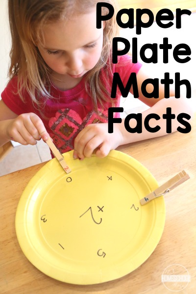 Paper Plate Math Facts: Math Inspired Busy Bag | School ...