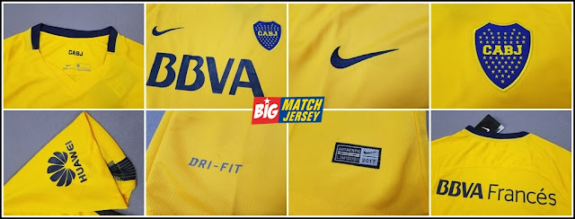 Detail New 2017-18 Boca Juniors Away Soccer Jersey Football Shirt