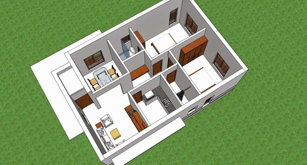 Home plans in india 3 house plans to fit narrow plot for Small house design plans in india image