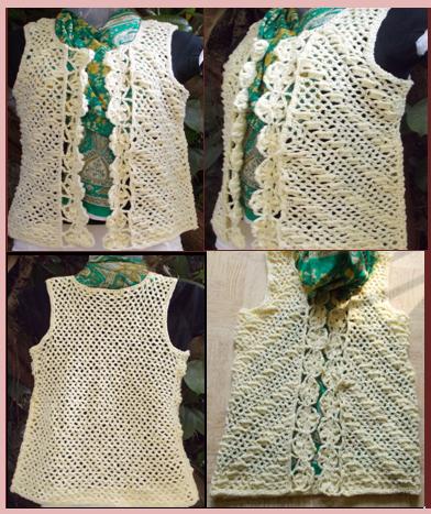 free crochet vest pattern, free crochet shelled vest pattern