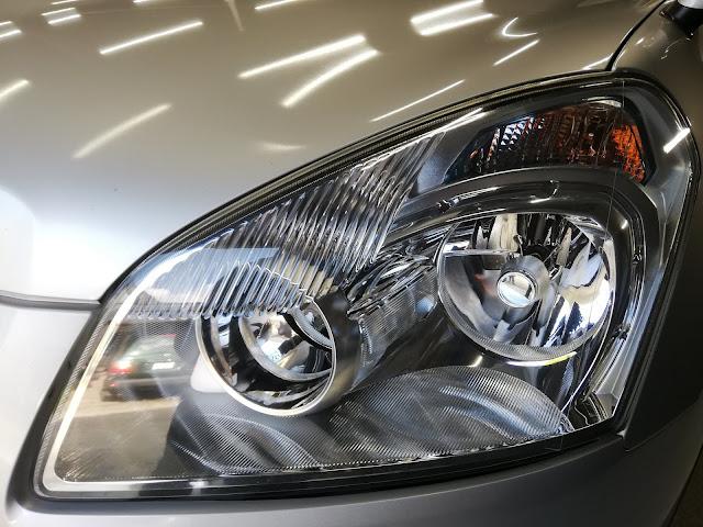 日産/デュアリス  ヘッドライトの劣化・くすみ復元リペア+劣化防止コーティングafter2
