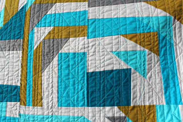 Inspiration blog post series - Pineapple Upset, quilt made by Debbie Jeske - A Quilter's Table