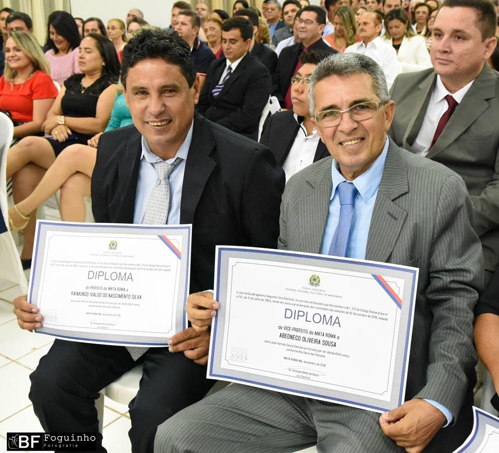 Bode e Abedenego são diplomados prefeito e vice-prefeito de Mata Roma