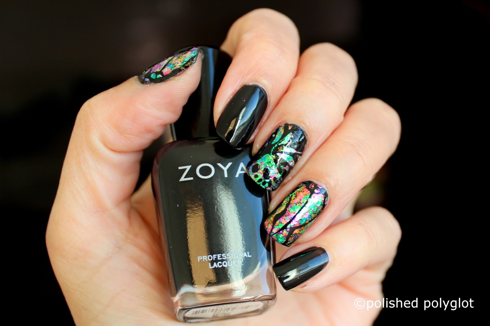 Nail art │ Dark Butterfly wings [26GNAI] / Polished Polyglot