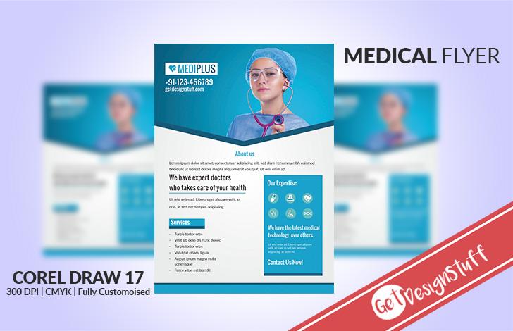 1990 Download Medical Flyer CorelDraw Template