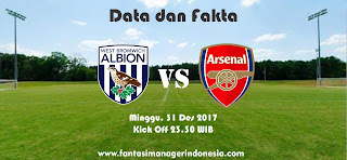 Data dan Fakta Fantasy Premier League West Bromwich vs Arsenal Fantasi Manager Indonesia