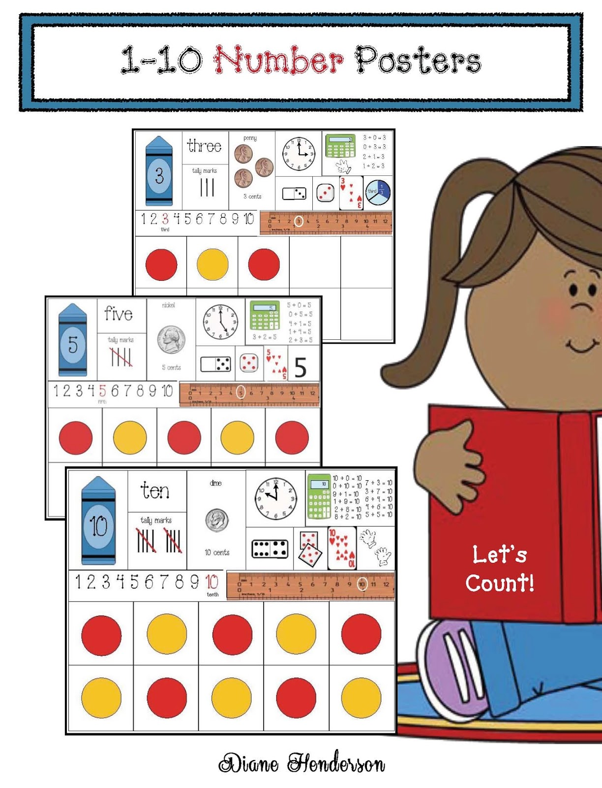 Anchor Chart Posters For Numbers 1 10