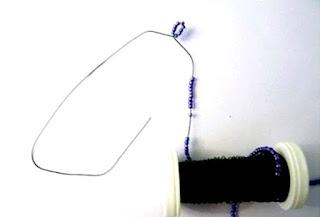 Фото мастер-класс лаванда из бисера начало