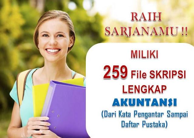 259 Contoh Judul & Skripsi Lengkap Akuntansi Untuk Dimiliki